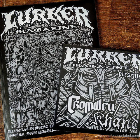 "LURKER MAGAZINE ISSUE #1 w/ KHAND/CROMWELL Split 7"" Vinyl"