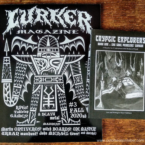 LURKER MAGAZINE ISSUE #3 w/ Cryptic Explorers book