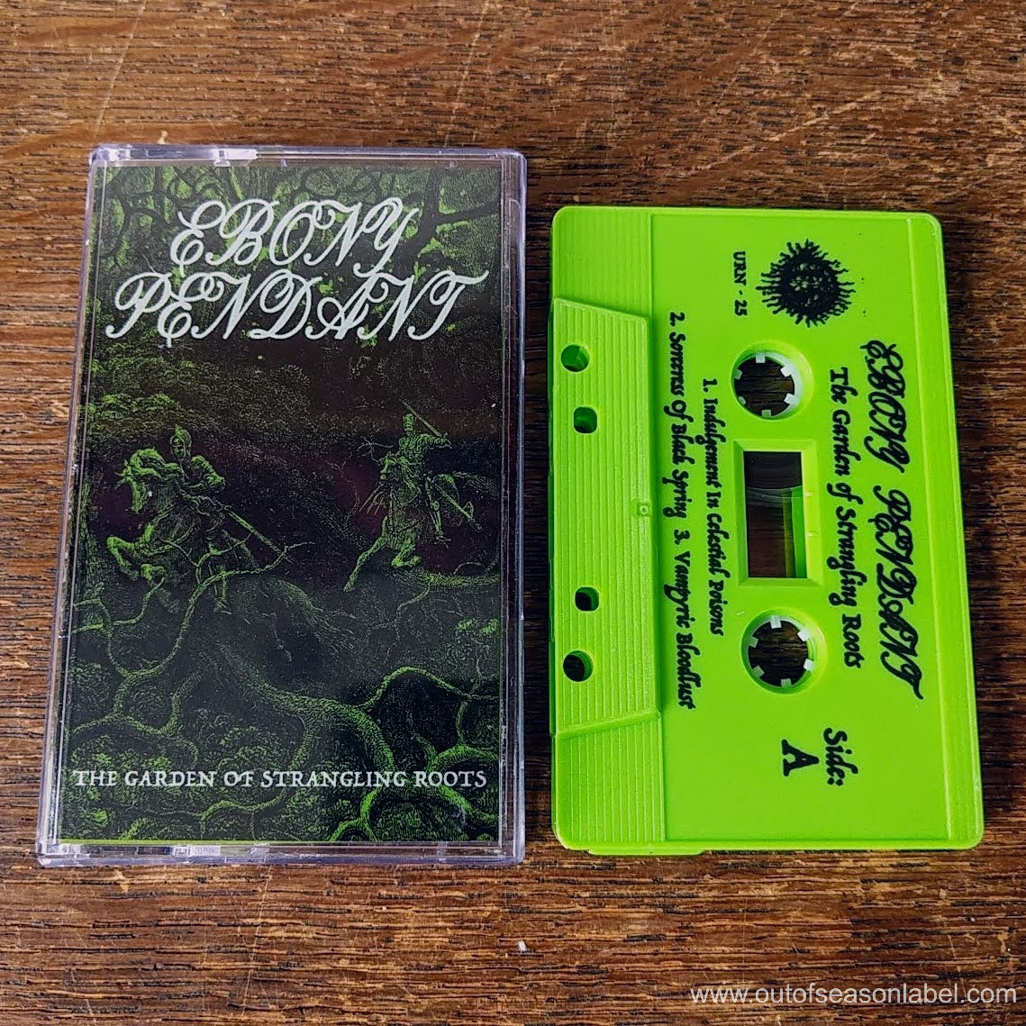 "[SOLD OUT] EBONY PENDANT ""The Garden of Strangling Roots"" Cassette Tape"
