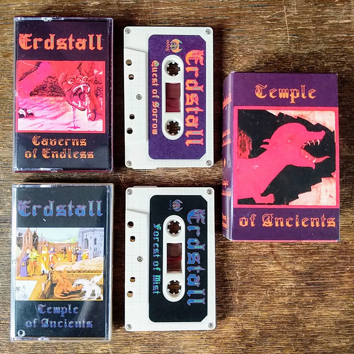 "[SOLD OUT] ERDSTALL ""Caverns Of Endless / Temple Of Ancients"" 2xTape Box"