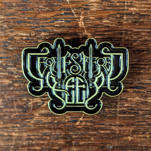 "SEQUESTERED KEEP ""Logo"" bronze metal enamel pin"