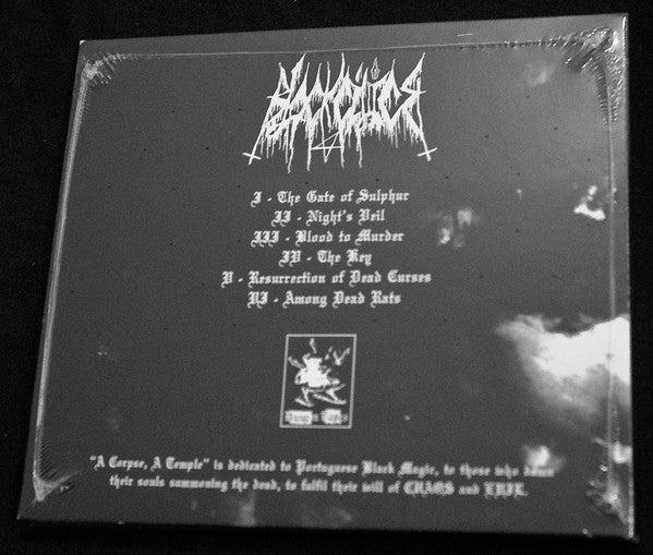 "BLACK CILICE ""A Corpse, A Temple"" CD"