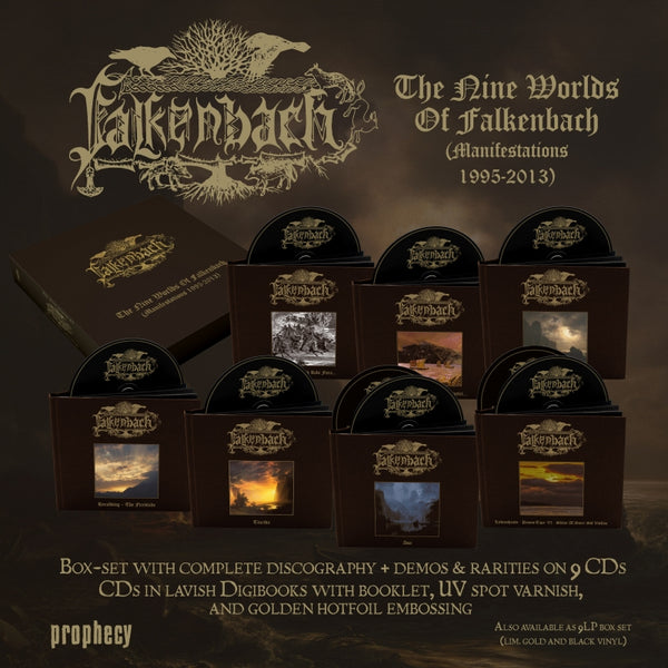 "[SOLD OUT] FALKENBACH ""Manifestations 1995-2013"" 9xCD deluxe digibook box set"