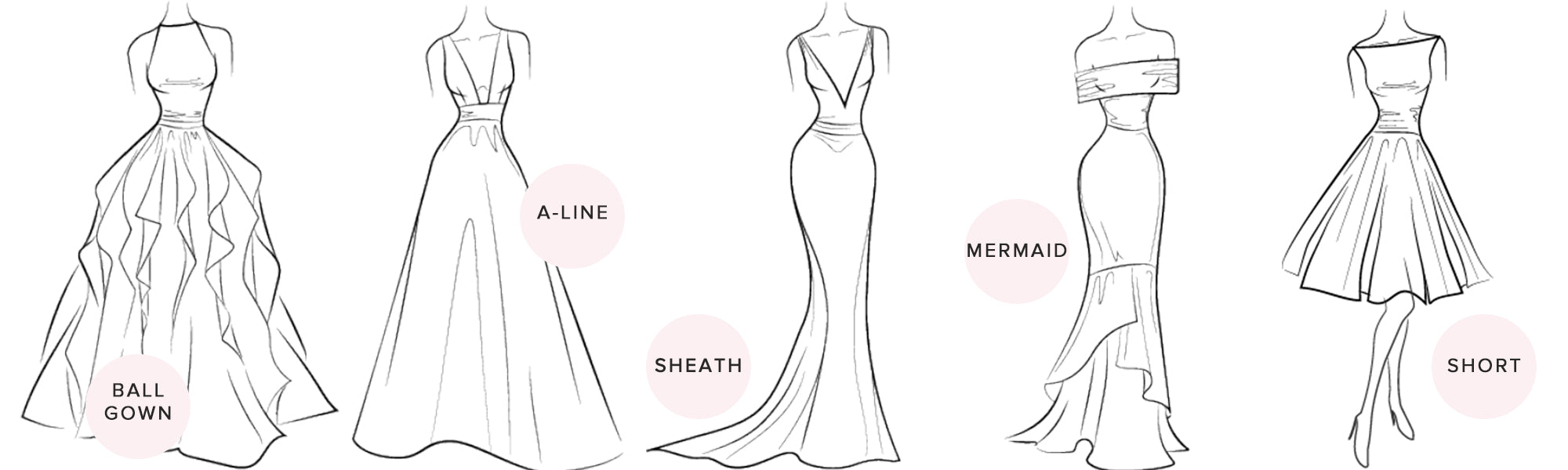 Oleg Cassini Bridal Dress Silhouettes