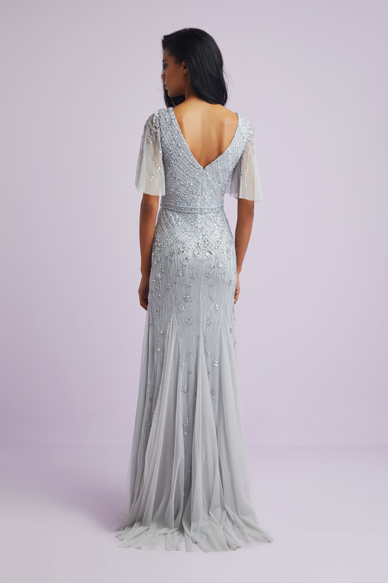 Beaded Fitted Formal Gown