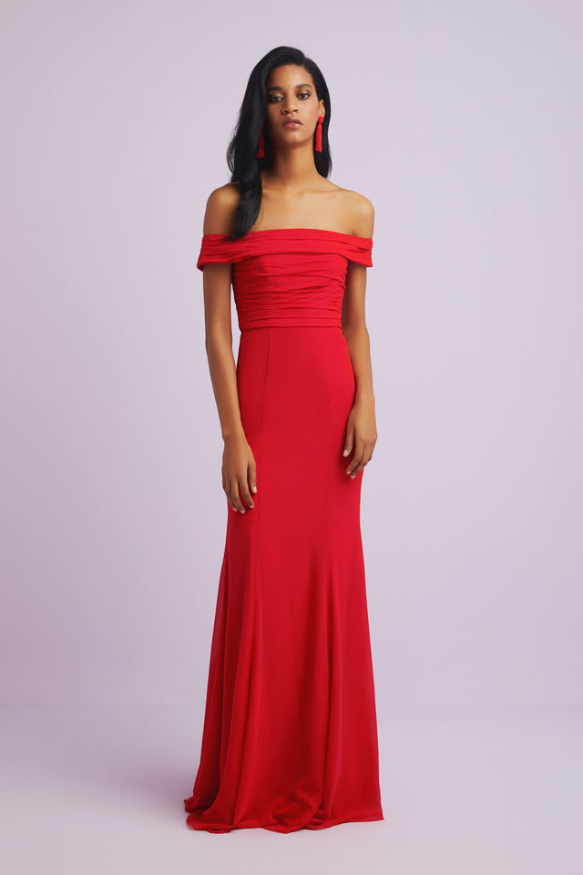 Elegant Off-the-shoulder Formal Gown