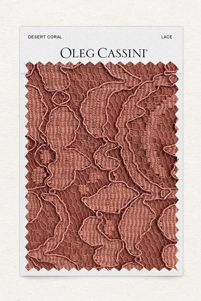 Desert Coral Lace Fabric Swatch