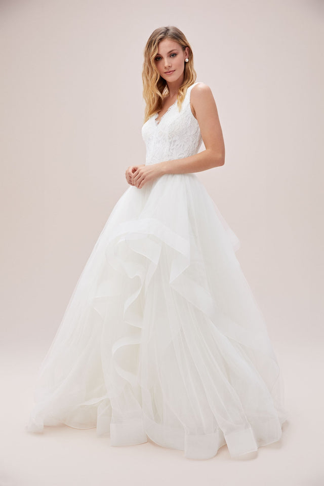 Tiered Tulle Ball Gown Wedding Skirt