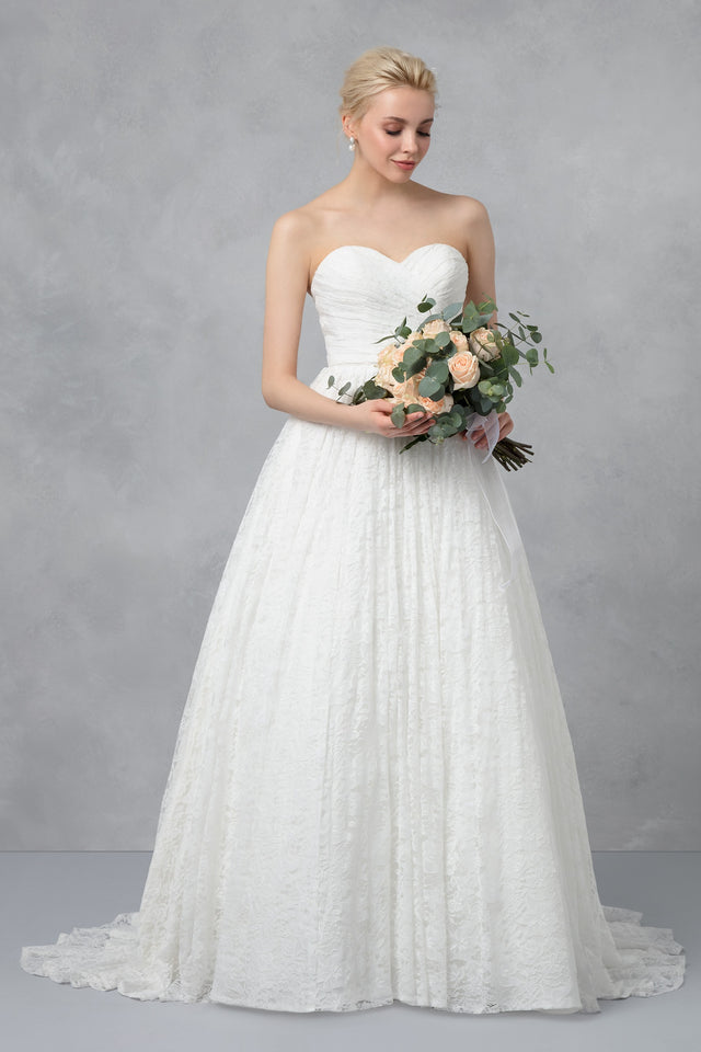 Lace Sweetheart Wedding Ball Gown