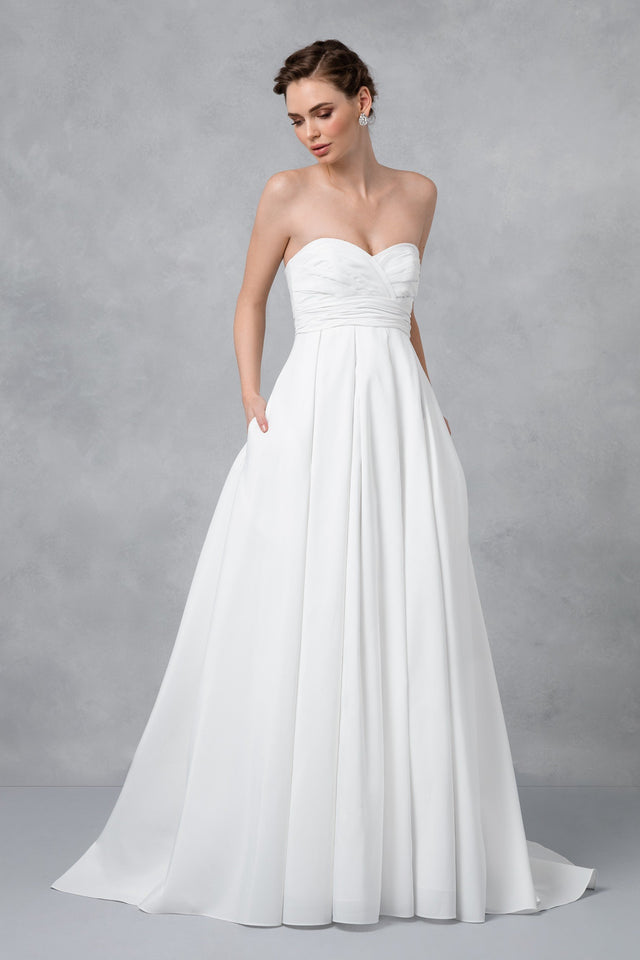 Faille Empire Waist Wedding Dress
