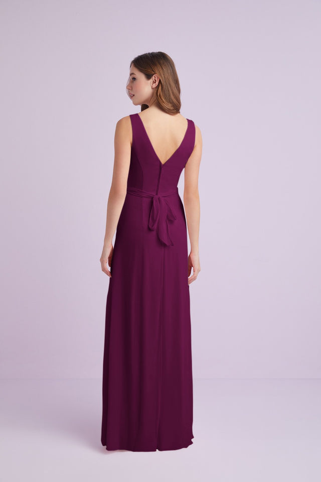 Ruffled Tank Crinkle Chiffon Bridesmaid Dress