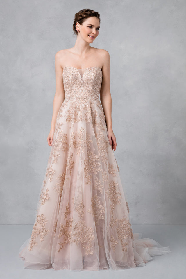 Blush A-Line Wedding Dress