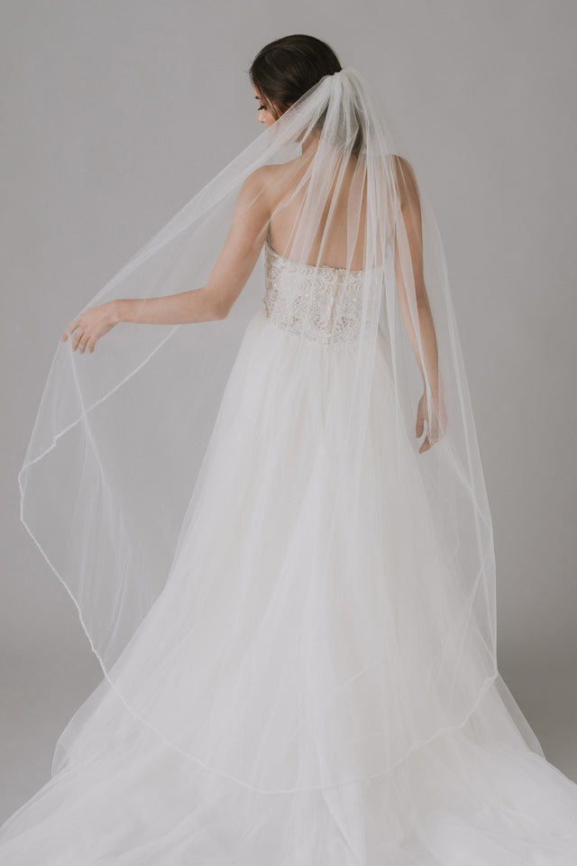 Embellished Edge Walking Veil