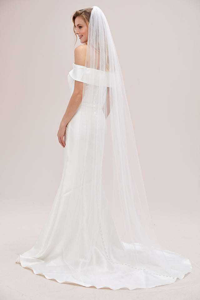 "90"" one tier plain veil"