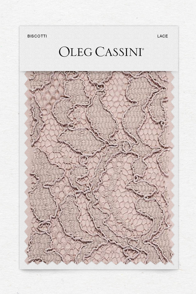 Biscotti Lace Fabric Swatch