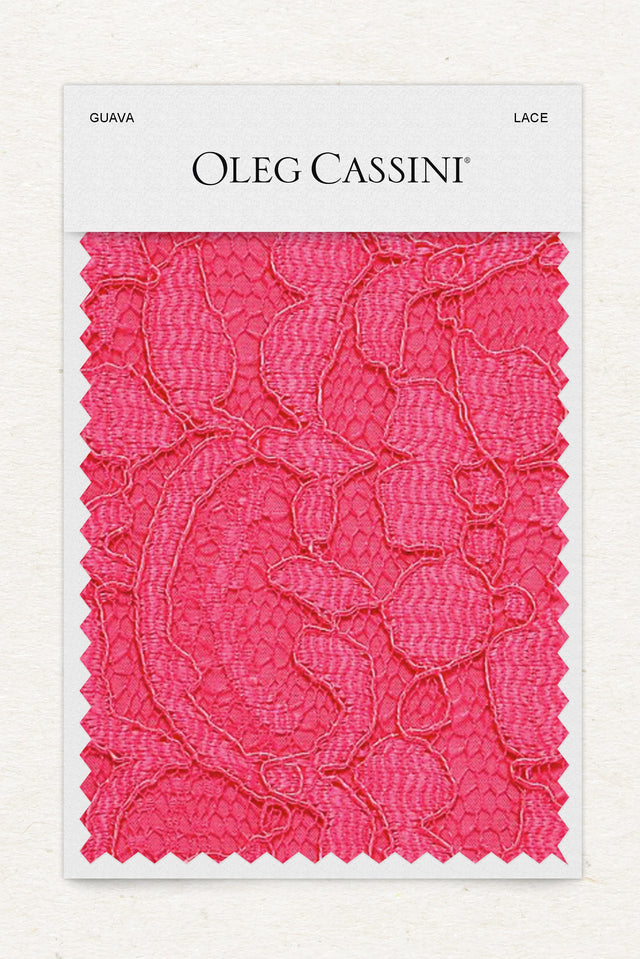 Guava Lace Fabric Swatch