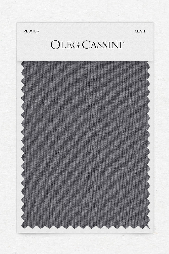 Pewter Mesh Fabric Swatch