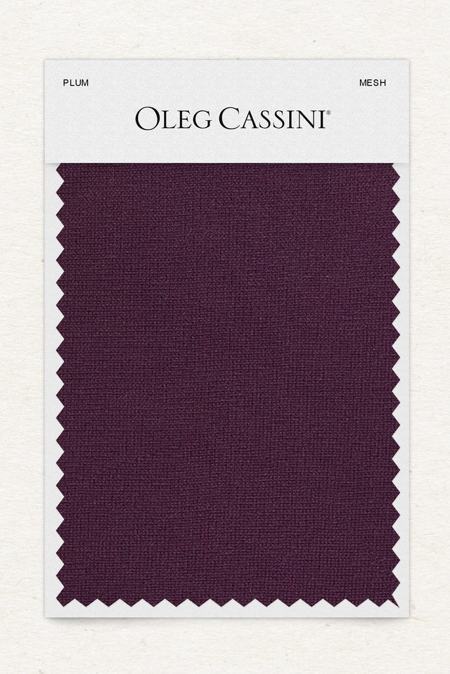 Plum Mesh Fabric Swatch