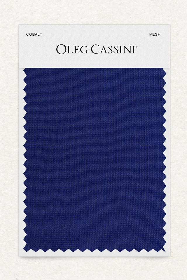Cobalt Mesh Fabric Swatch