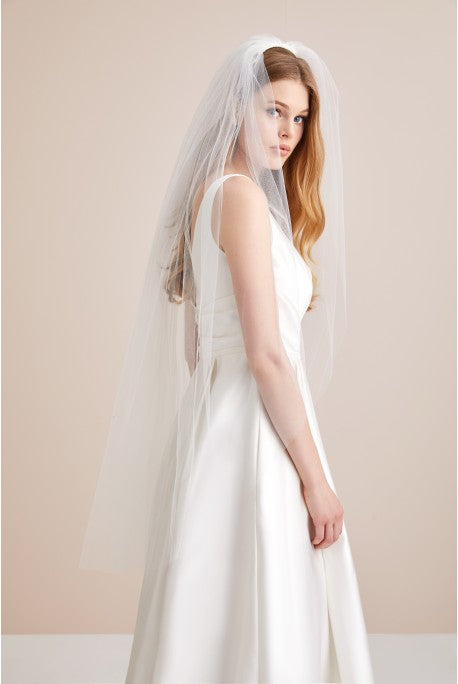"45"" one tier plain veil"