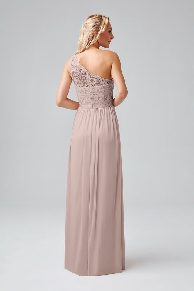 Long One Shoulder Lace Bridesmaid Dress