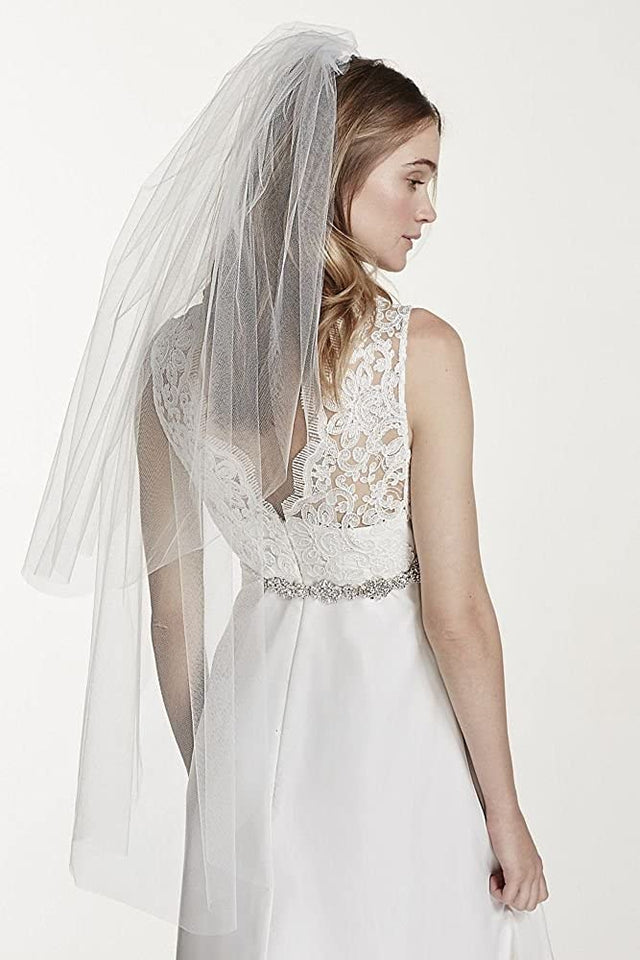 Two Tier Elbow Length Veil