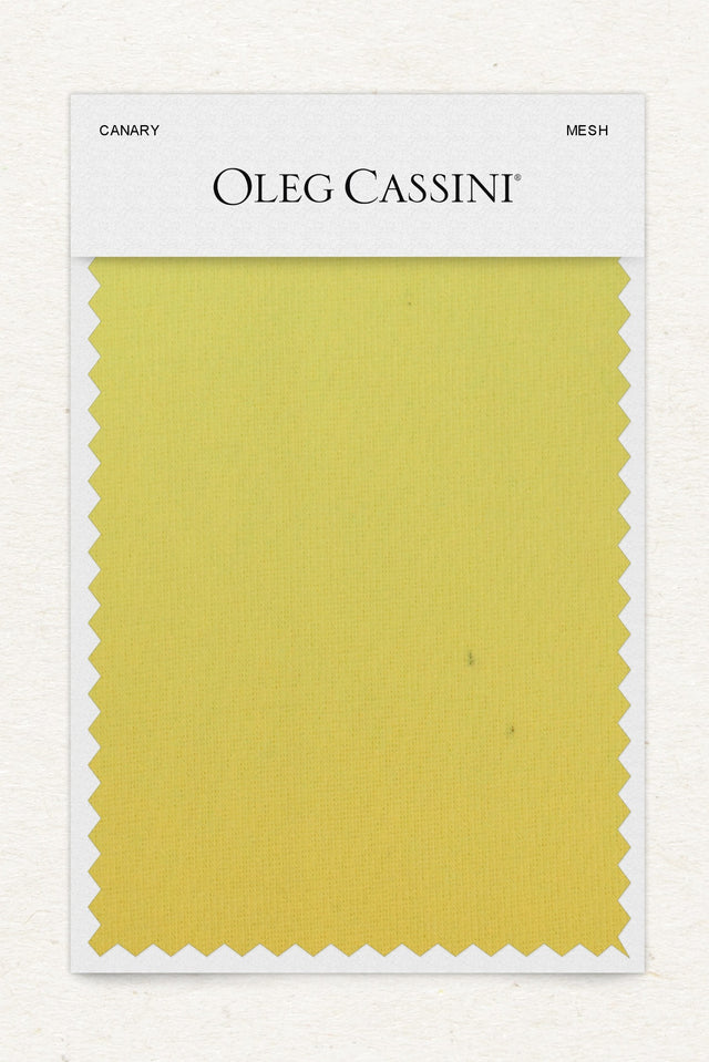 Canary Mesh Fabric Swatch