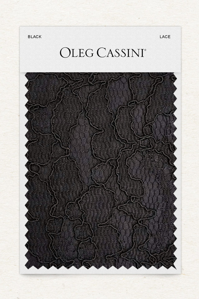 Black Lace Fabric Swatch