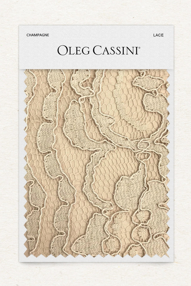 Champagne Lace Fabric Swatch