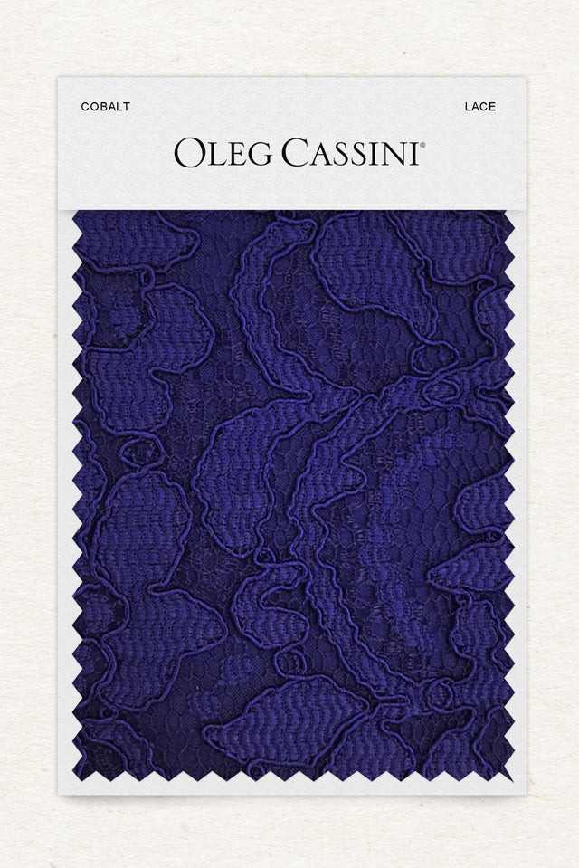 Cobalt Lace Fabric Swatch