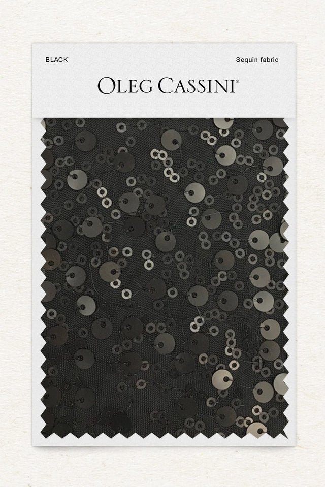 Black Sequin Fabric Swatch