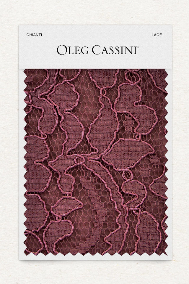 Chianti Lace Fabric Swatch