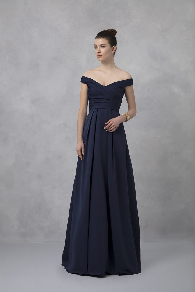 Off the shoulder formal gown
