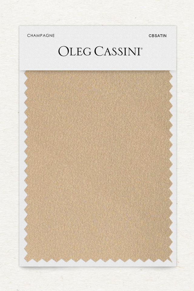Champagne Crepe-Back Satin Fabric Swatch