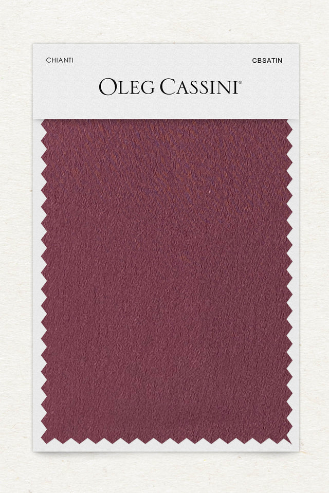 Chianti Crepe-Back Satin Fabric Swatch