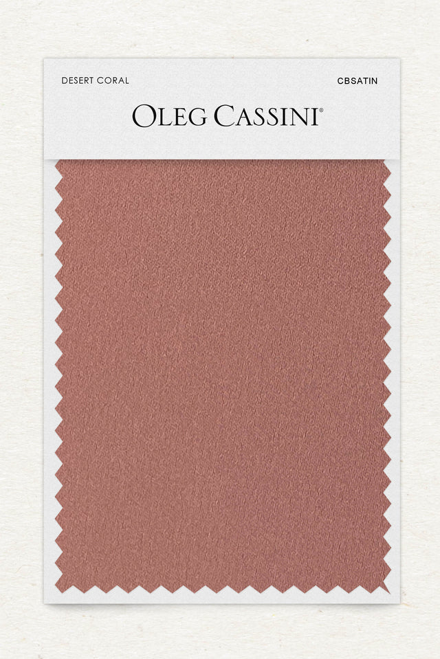 Desert coral Crepe-Back Satin Fabric Swatch