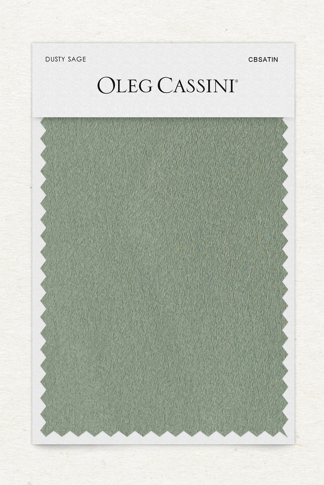 Dusty sage Crepe-Back Satin Fabric Swatch