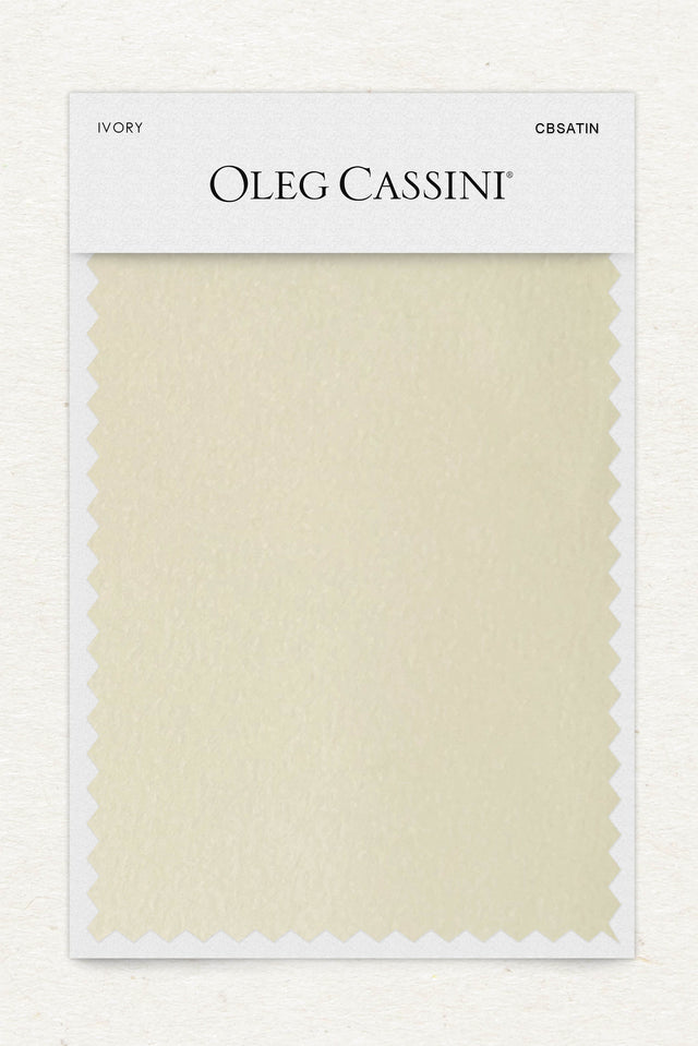 Ivory Crepe-Back Satin Fabric Swatch