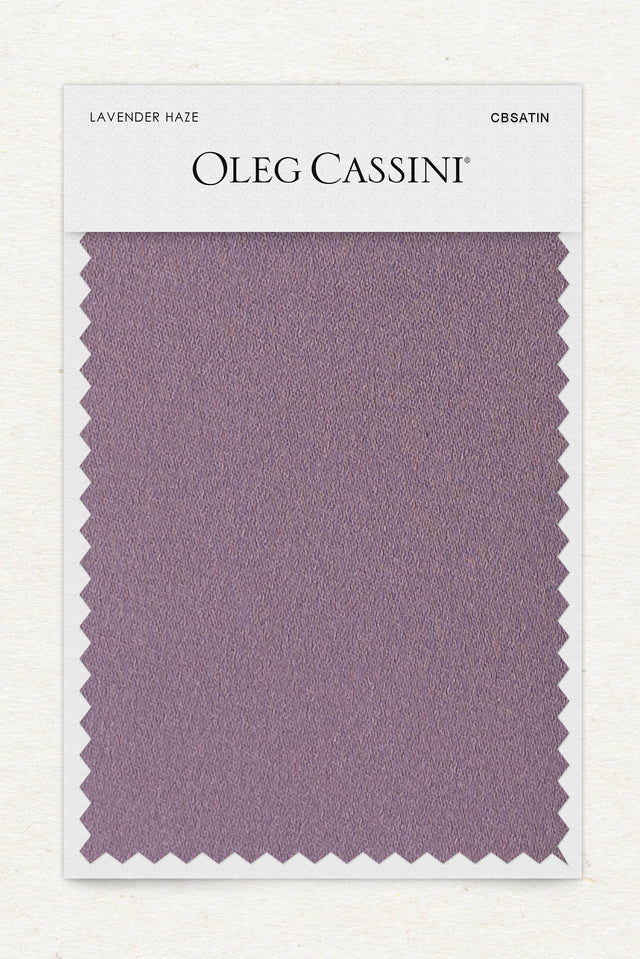 Lavender haze Crepe-Back Satin Fabric Swatch