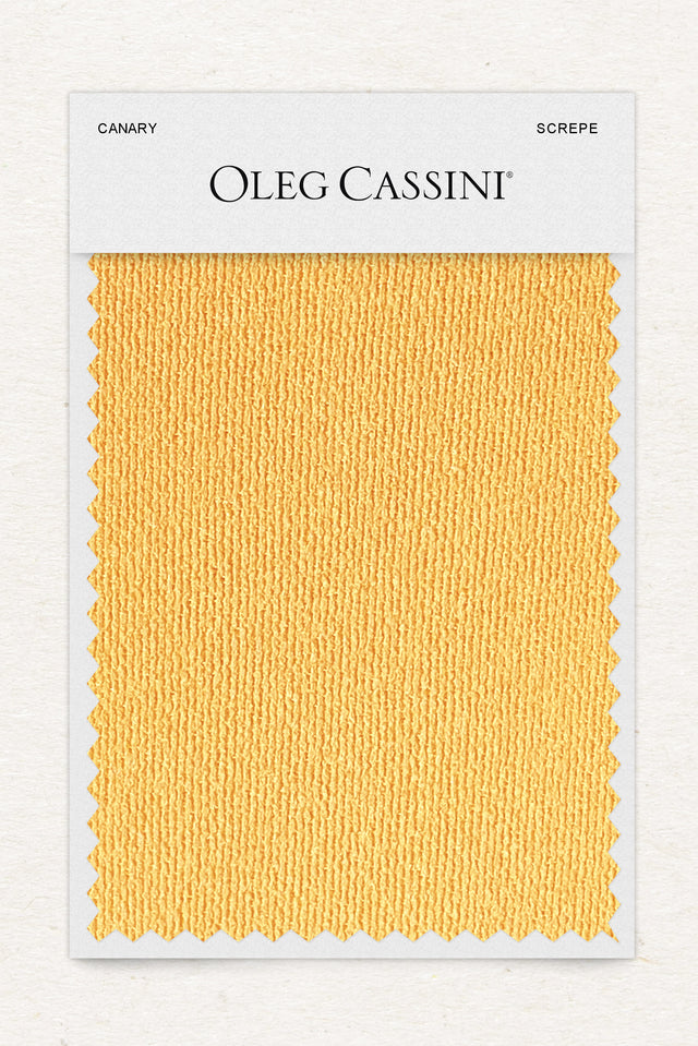Canary Stretch Crepe Fabric Swatch