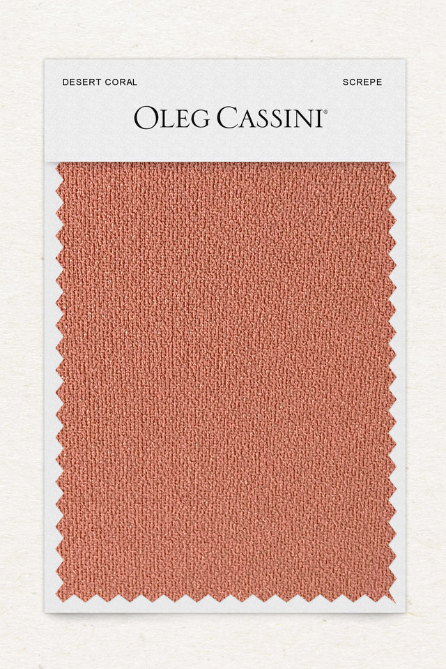 Desert coral Stretch Crepe Fabric Swatch
