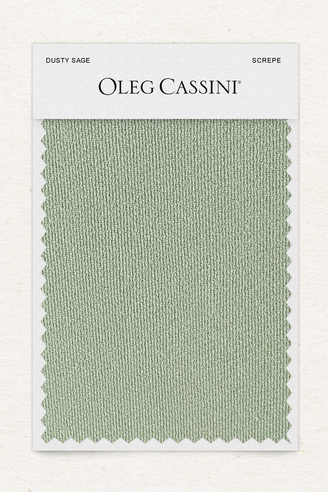 Dusty sage Stretch Crepe Fabric Swatch