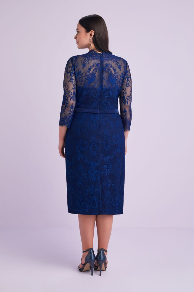 Long Sleeved Lace Dress All Over Lace Dress