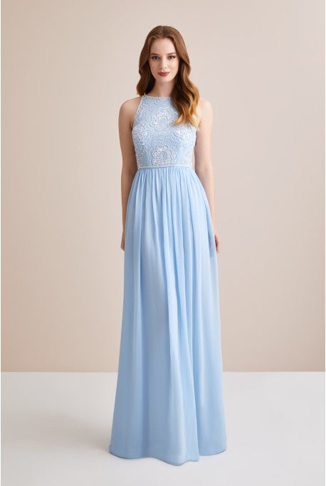 Chiffon and Sequin Long Formal Dress