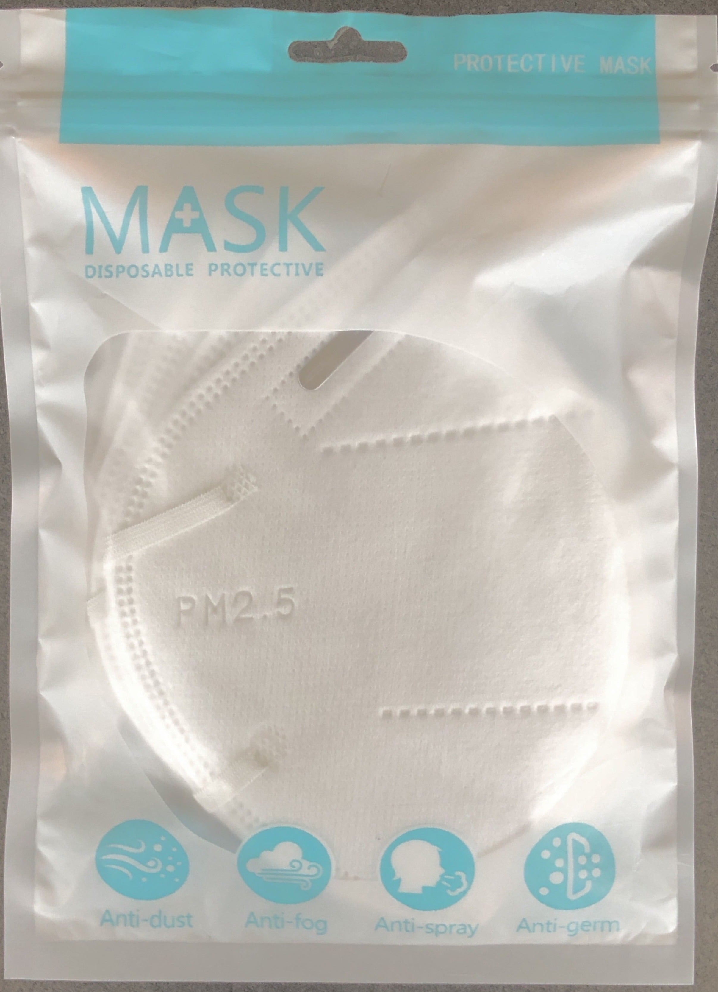 KN95 Disposal Mask 5 PC pack
