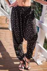 Night Lilies Harem Pants Ankle Length-Soulfree Yoga