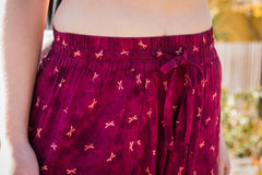 Cardinal Dragonflies Harem Pants Below Knee-Soulfree Yoga