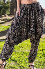 Sahara Paisley Harem Pants Ankle Length-Soulfree Yoga