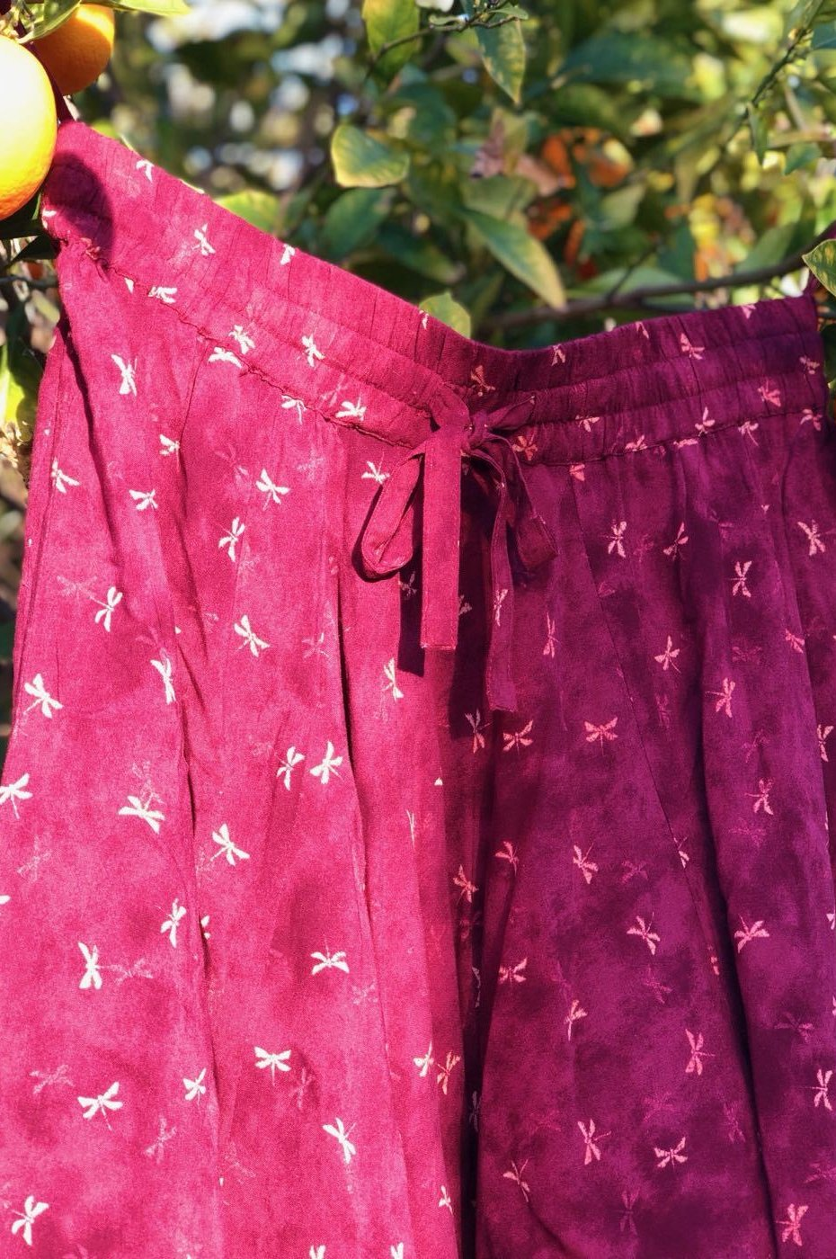 Cardinal Dragonflies Harem Pants Ankle Length-Soulfree Yoga