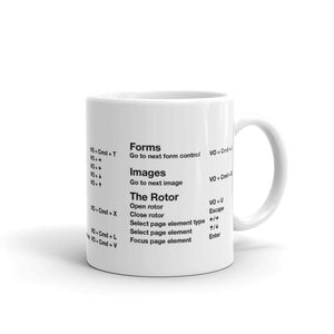 VoiceOver Screen Reader Cheat Sheet Mug